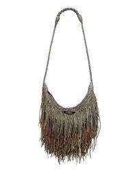En Shalla | Green Leather Tassle Bag | Lyst