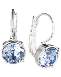 Nine West | Blue Silver-tone Medium Drop Earrings | Lyst