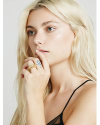 Free People | Metallic Womens Temple Stacking Rings | Lyst