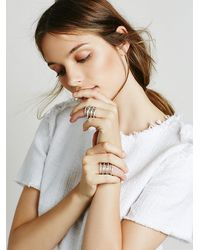 Free People | Metallic Wire Wrapped Ring | Lyst