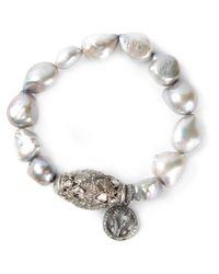 Loree Rodkin | Gray Keshi Pearl Bracelet | Lyst