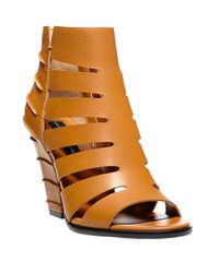 Steven by Steve Madden - Brown Casted Leather Sandal Booties - Lyst