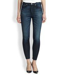 Rag & Bone - Blue Justine Highrise Skinny Jeans - Lyst