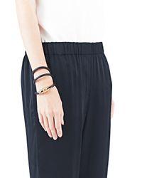 Lanvin | Black Leather Cord Bracelet | Lyst