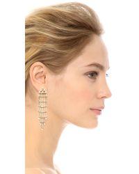 DANNIJO | Metallic Riles Earrings - Clear/gold | Lyst