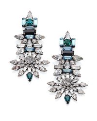 DANNIJO | Gray Everly Crystal Drop Earrings | Lyst