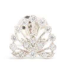 Yvonne Léon | White Yvonne Léon Diamond Foliage Stud Earring | Lyst
