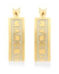 Marc By Marc Jacobs | Metallic Mini Hoop Earrings | Lyst