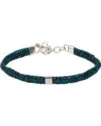 Caputo & Co. - Green Hand-knotted Bracelet for Men - Lyst