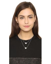Amber Sceats - Metallic Imitation Pearl Duo Necklace - Silver/pearl - Lyst