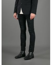 Saint Laurent - Black Distressed Skinny Jean for Men - Lyst