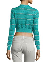 M Missoni - Blue Sweater Knit Over Lurex - Lyst
