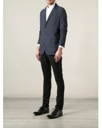 Giorgio Armani | Blue Piqué Blazer for Men | Lyst