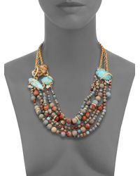Alexis Bittar - Metallic Elements Desert Jasper, Amazonite & Crystal Beaded Strand Necklace - Lyst
