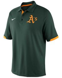 Nike - Green Men'S Oakland Athletics Ac Dri-Fit Training Polo Shirt for Men - Lyst