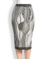 Rag & Bone - Gray Coogi Knit Pencil Skirt - Lyst
