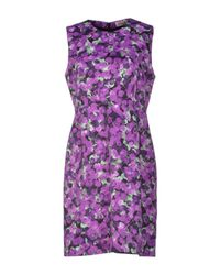 Calla - Purple Short Dress - Lyst