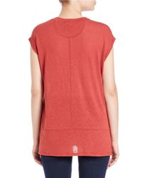 Free People | Red Knit Muscle Tee | Lyst