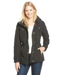 MICHAEL Michael Kors | Black Quilted Field Jacket | Lyst