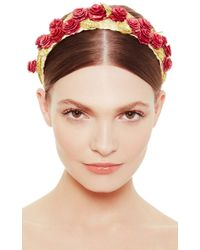 Masterpeace - Straw Headband With Red Roses - Lyst