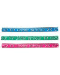 Under Armour | Green Active Mini Headbands Set | Lyst