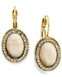 INC International Concepts | Natural Gold-tone Cream Stone Drop Earrings | Lyst