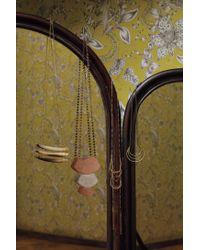 Anthropologie - Metallic Tassel Blaze Necklace - Lyst