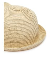 Forever 21 | Natural Ears Straw Hat | Lyst