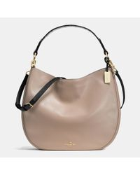 COACH | Metallic Nomad Hobo In Colorblock Exotic Embossed Leather | Lyst