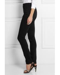 Acne Studios - Black Needle High-Rise Skinny Jeans - Lyst