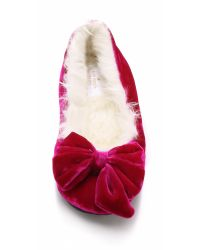 kate spade new york | Pink Scarlett Faux Fur Slippers | Lyst