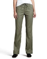 NYDJ - Green Lindsey Wide-leg Linen Pants - Lyst