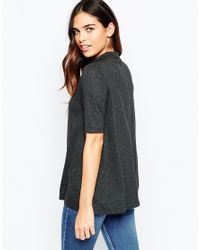 ASOS | Gray The Turtle Neck Swing Top | Lyst
