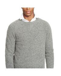 Polo Ralph Lauren | Gray Shetland Wool-cashmere Sweater for Men | Lyst