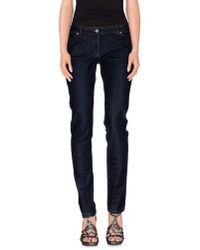 Balenciaga - Blue Denim Trousers - Lyst