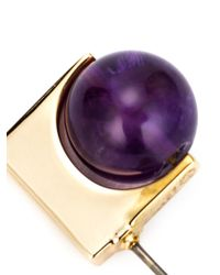 Uribe | Metallic 18kt Gold Amethyst Earrings | Lyst