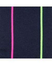Paul Smith | Blue Men's Neon Vertical Striped Navy Socks for Men | Lyst