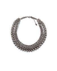 Zara | Metallic Sparkly Crystal Bead Necklace | Lyst