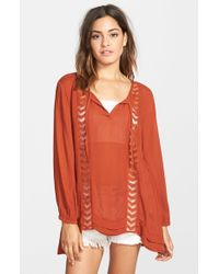 Volcom | Brown 'highway Child' Tunic | Lyst