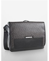 Calvin Klein | Brown White Label Ck Coated City Messenger Bag for Men | Lyst