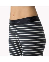 Tommy Hilfiger - Blue Cotton Jersey Pyjama Set - Lyst