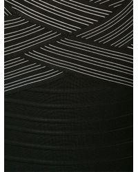 Hervé Léger - Black Bandage Flare Dress - Lyst