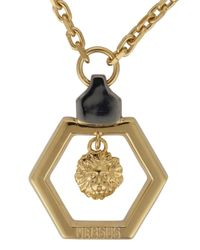 Versus | Metallic Gold Tone Lion Necklace for Men | Lyst