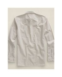 RRL - Natural Striped Cotton Shirt for Men - Lyst