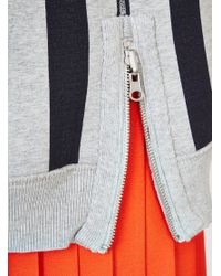 YMC - Gray Reversible Bonded Zip Sweat Grey - Lyst