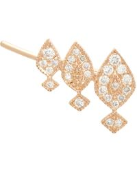 Stone | Metallic Diamond & Pink Gold Gatsby Earring | Lyst
