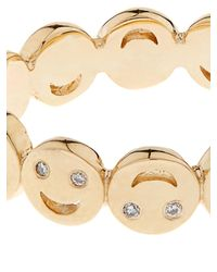 Alison Lou | Diamond & Yellow-Gold Happy Faces Ring | Lyst