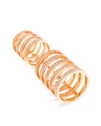 Repossi - Metallic Berbère 18-karat Gold And Diamond Ring - Lyst