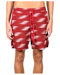 Stone Island - Red Logo Swimshorts for Men - Lyst