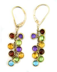 Effy | 14k Yellow Gold Multi Colored Gemstone Drop Earrings | Lyst